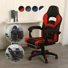 Gamingstuhl Racing Stuhl Computerspiel Chair Sportsitz Drehstuhl mit Fußstütze
