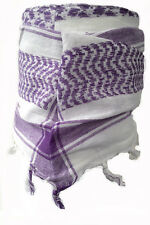 BABY PALI TUCH Weiß-violett Fransenschal für Kinder