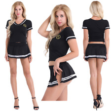 Sexy Women's School Girl Dress Fancy Cosplay Costume Uniform Lingerie Outfit Set