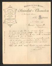 "NEVERS (58) CHIFFONS FERRAILLE CHARBONS ""SERINDAT & CHOMETON"" en 1898"