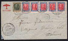 STORIA POSTALE Colonie Eritrea 1936 Lettera PA da Dessiè a Modena (FILK)