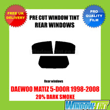 DAEWOO MATIZ 5-DOOR 1998-2008 20% DARK REAR PRE CUT WINDOW TINT