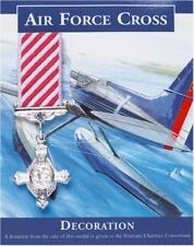 Air Force Cross Miniature Medal Replica, Silver Plated