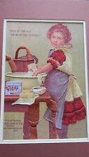 Finished G.Leslie Jca ColorArt Crewel Advertisement Sunlight Soap Girl 18x14 New