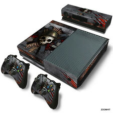 Xbox One Console Skin Decal Sticker Skull Metal Custom + 2 Controller Skins Set