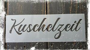 Shabby / Vintage Schablone Stencil Kuschelzeit