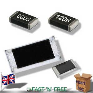 SMD / SMT Resistor Surface Mount Chip Film Resistor 0805 1206 10 ohm - 1 Mohm