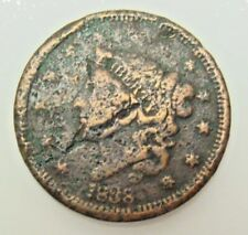 1838 LARGE CENT, BARGAIN COLLECTOR COIN,  FREE SHIPPING IN USA