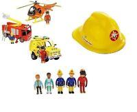 Fireman Sam Toys  Engine Jupiter Helicopter, Rescue Vehicle & Figures Helmet