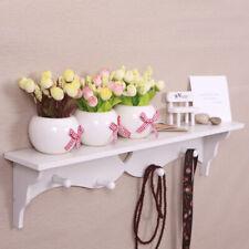 Heart Shaped Floating Wall Shelf Bookshelf Display Storage With Coat Hook Whites