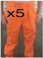 5 pairs bisley mens work wear pants orange hi-vis size 102s