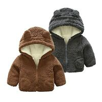 Toddler Baby Boys Girls Fleece Windproof Winter Coat Thicken Warm Outwear