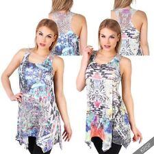 Cotton Blend Tank, Cami Machine Washable Geometric Tops & Blouses for Women