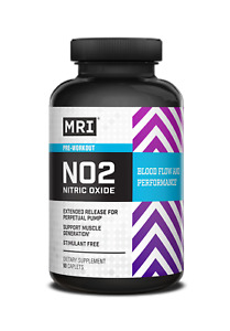 MRI Performance NO2 Nitric Oxide Pre Workout Pump 90 capsules BUILD MUSCLE