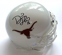 David Thomas signed Texas Longhorns mini helmet 2005 national champs schutt
