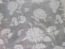 SUNFLOWER LACE FABRIC TABLECLOTH~Thanksgiving/Primitive/Harvest~52X70 Oblong~NEW