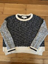 Vintage Havana Sweater Black Grey And Cream Size Small