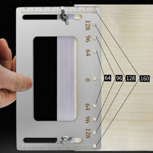 Cabinet Jig Punch Locator Template Woodworking Drill Guide Door Handle Tool
