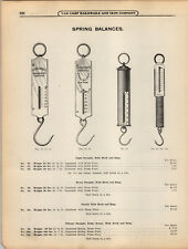 1908 PAPER AD Forschner's Spring Balance Pelouse Brass Front