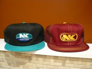 1980's NK Northrup King Mesh Farm Supply Trucker Cap Hats Patch K Products USA