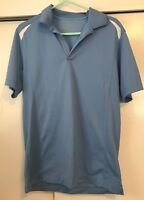 Nike Golf Polo Shirt Dri Fit Tour Performance Blue Mens Size M