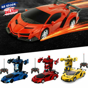 Transformer RC Radio Remote Control 2 In 1 Vehicle Car Deform Robot Kid Toy Gift