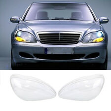 1 pair Headlight Clear Lens Covers For Benz W220 S600 S500 S320 S350 S280 98-05