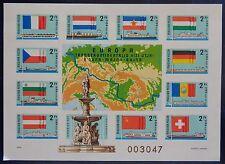 Hongrie, bloc n°134 non dentelé neuf, canal Danube-Main-Rhin, 1977