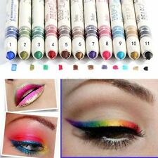 New 12 Pcs PRO Cosmetic Makeup Eyeliner Eye / Lip Liner GLITTER Pencil Set