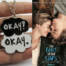 One Sick Lover Story OKAY Cloud Enamel Pendant THE FAULT IN OUR STARS Necklace