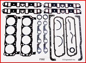 Engine Full Gasket Set-VIN: F, GAS, OHV, CARB, 2BBL, Natural, Ford, 16 Valves