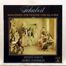 SIDNEY HARTH, D. HANDMAN - SCHUBERT violin & piano sonatas CONCERT HALL LP EX++
