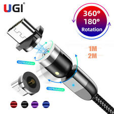 2020 New Micro USB 360°/180° Magnetic Cable USB Type-C Cable Quick Magnetic 1-2m