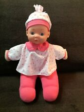 "2014 Soft ""Holly"" Baby Doll Pretty Blue Eyes11"" Matching Top & Hat Cute Cuddly"