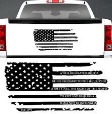 2ND AMENDMENT DISTRESSED AMERICAN FLAG NRA WINDOW DECAL JEEP FORD CHEVY DODGE
