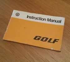 Volkswagen Golf Instruction Manual 1975 Edition - Extremely Rare