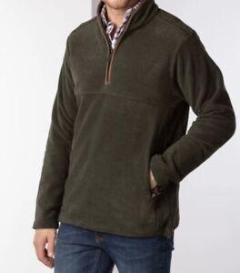 Rydale Men's Huggate Overhead Pullover Soft Fleece Half Zip Jumper Size M