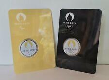 2 Blisters Medaille Touristique Monnaie de Paris 2024 Embleme JO et Para 2021