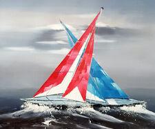 peinture huile art tableau peinture contemporain marine bateau mer toile+châssis