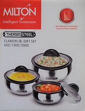 New set of 3 thermo hot pot insulated casserole gift set 600 1500 2000 ML