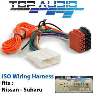fit Nissan Navara D40 ISO wiring harness adaptor cable connector lead loom plug