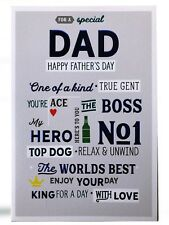 Special Papa one of a kind vrai Gent Boss Ace Design NO1 Père's Jour Luxe Carte