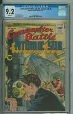 COMMANDER BATTLE AND THE ATOMIC SUB #6 CGC 9.2 WHITE PAGES