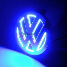 Blue Illuminated 5D LED Car Tail Logo Badge Emblem Light For Volkswagen Golf CC