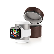 Techlink Recharge pour Apple Watch 2 3 42 mm 38 mm Voyage Chargeur Station Dock Case Brown