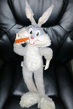 "Vintage 1960s Mattel Talking Bugs Bunny 25"" Plush Doll Pull String"