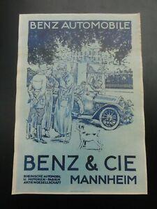 Altes Mercedes Benz  Werbeplakat  Mannheim
