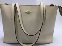 COACH REFINE CALF WHITE LEATHER CENTRAL LARGE TOTE 39 SHOULDER BAG LIGHTLY USED