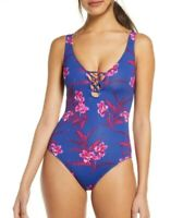 Tommy Bahama 251366 Women's Oasis Blossoms One-Piece Swimsuit Size 6