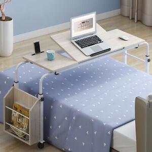 MDF Steel Bed Table Hospital Over Bed Tilts Adjustable Food For Sick Disabled